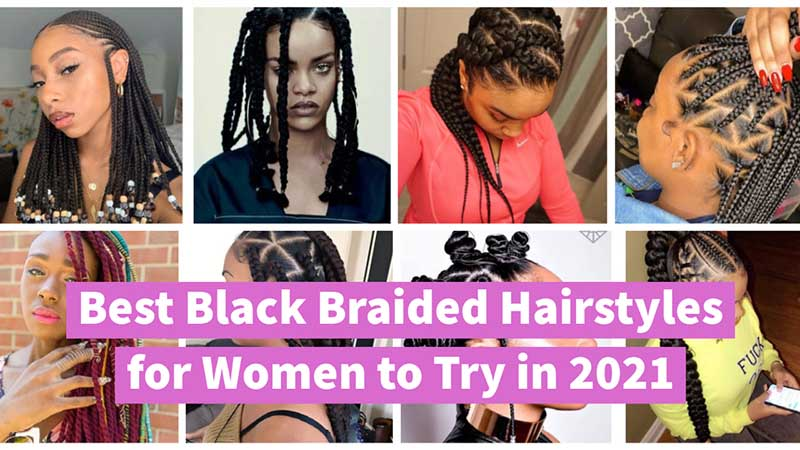 2021 black braided hairstyles for women