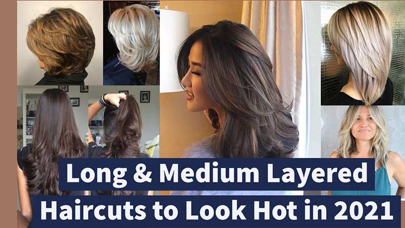 medium layered haircuts 2021, for women, long layered hairstyles 2021